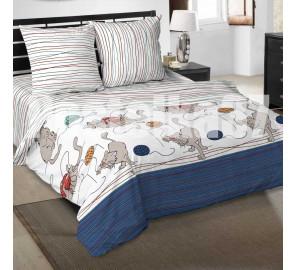"""Ткань поплин """"Мягкие Лапки"""" для постельного белья (основа) 220 см (в розницу от 1 метра на отрез)"""