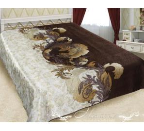 """Шелковое покрывало на кровать """"Латте"""""""