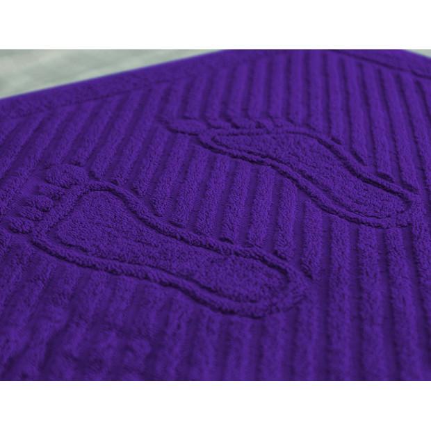 """Полотенце махровое """"Ножки"""" (фиолетовый)"""