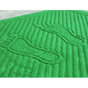 """Полотенце махровое """"Ножки"""" (зеленый)"""