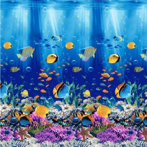 """Банное полотенце """"Подводный мир"""""""