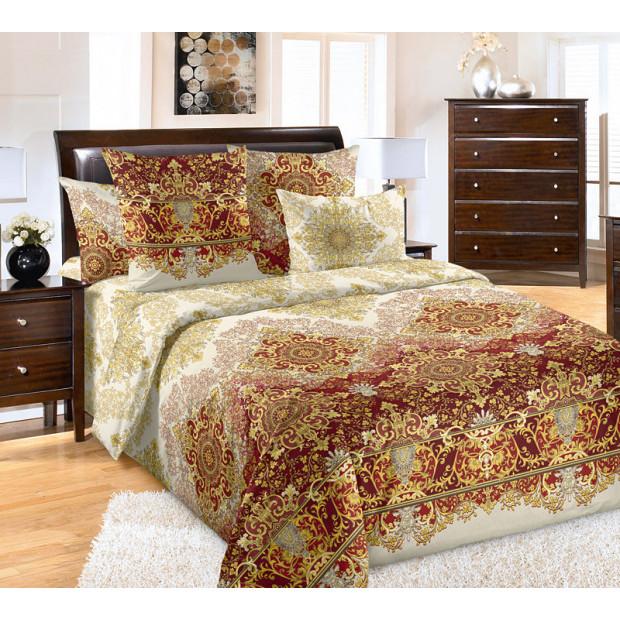 """Ткань бязь """"Овации"""" красный для постельного белья 220 см (оптом от 1 рулона)"""