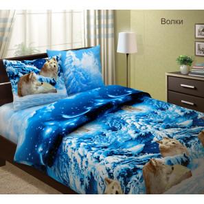 """Ткань бязь """"Волки"""" для постельного белья 220 см (в розницу от 1 метра на отрез)"""