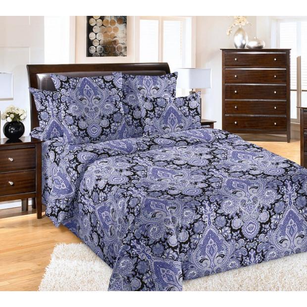 """Ткань бязь """"Пейсли"""" фиолетовый  220 см (оптом от 1 рулона)"""