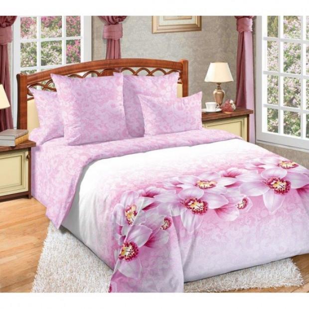 """Ткань перкаль """"Аромат орхидей"""" для постельного белья (компаньон) 220 см (оптом от 1 рулона)"""