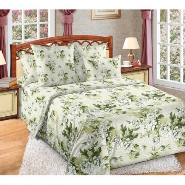 """Ткань перкаль """"Белый сад"""" для постельного белья (компаньон) 220 см (оптом от 1 рулона)"""