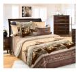 """Ткань перкаль """"Венеция"""" коричневый для постельного белья 220 см (оптом от 1 рулона) - small"""
