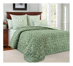 """Ткань перкаль """"Вирджиния"""" зеленый компаньон 220 см (в розницу от 1 метра на отрез)"""