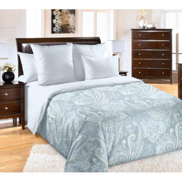 """Ткань перкаль """"Восточное утро"""" серый для постельного белья (компаньон) 220 см (оптом от 1 рулона)"""