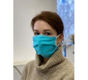 Маска лицевая немедицинская бирюзовая (бытового назначения)