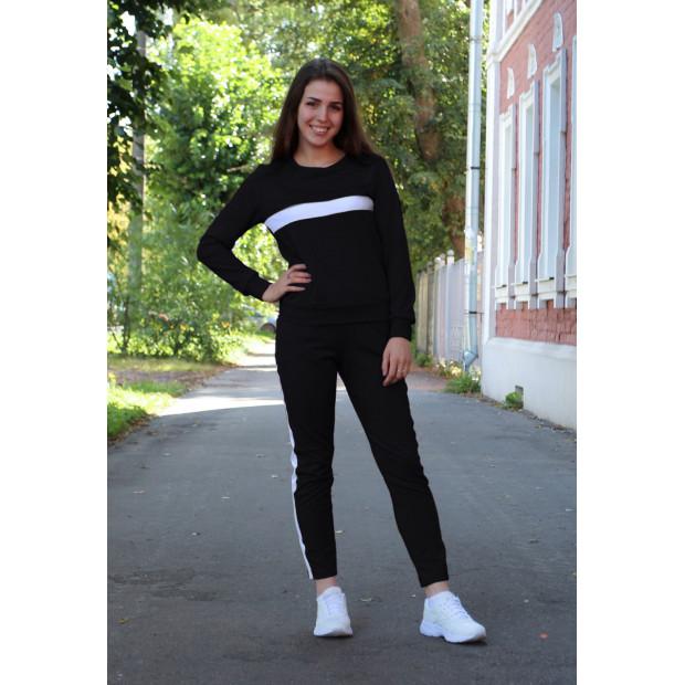 """Женский спортивный костюм """"Амелия"""" (черный)"""