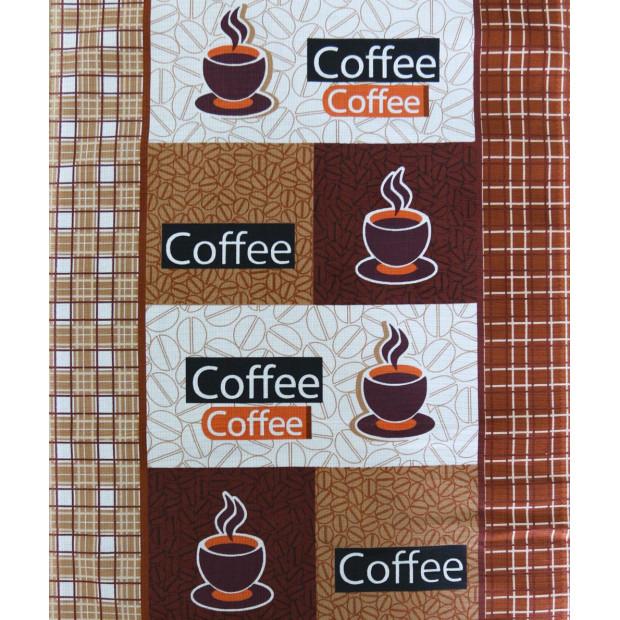 """Вафельное полотно """"Кофе-2"""" шир. 50 см"""